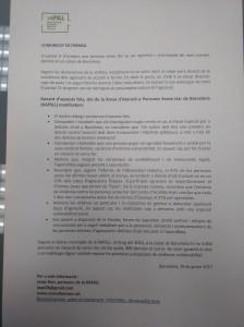comunicat XAPSLL condemna agresió